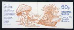 Booklet - Great Britain 1988-89 Marine Life #1 (Anemone on Whelk Shell) 50p booklet complete, SG FB50