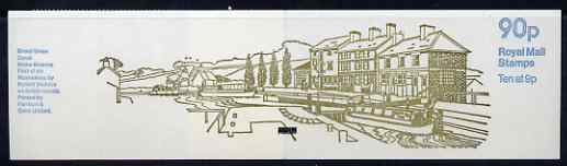 Booklet - Great Britain 1978-79 British Canals #1 (Grand Union Canal) 90p folded booklet with margin at right SG FG2B