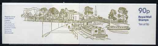 Booklet - Great Britain 1978-79 British Canals #5 (Regents Canal) 90p folded booklet with margin at right SG FG6B