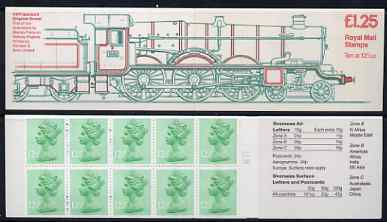 Booklet - Great Britain 1983 Railway Engines #1 (GWR Isambard Kingdom Brunel) \A31.25 folded booklet with margin at right SG FK5B