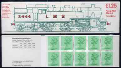 Booklet - Great Britain 1983 Railways Engines #2 (LMS Tank Loco) \A31.25 folded booklet with margin at left SG FK6A