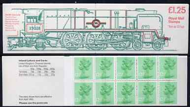 Booklet - Great Britain 1983 Railways Engines #4 (SR/BR Clan Line) \A31.25 folded booklet with margin at left SG FK8A