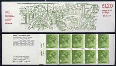 Booklet - Great Britain 1979-81 Industrial Archaeology Series #2 (Beetle Mill, Ireland) �1.20 folded booklet with margin at left SG FJ1A