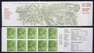 Booklet - Great Britain 1979-81 Industrial Archaeology Series #2 (Beetle Mill, Ireland) �1.20 folded booklet with margin at right SG FJ1B