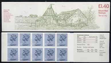 Booklet - Great Britain 1979-81 Industrial Archaeology Series #5 (Preston Mill) �1.40 folded booklet with margin at right SG FM1B
