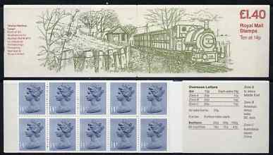Booklet - Great Britain 1979-81 Industrial Archaeology Series #6 (Talyllyn Railway) \A31.40 folded booklet with margin at right SG FM2B