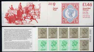 Booklet - Great Britain 1981-85 Postal History series #09 (Parcel Post Centenary) \A31.46 booklet complete with selvedge at left SG FO2A