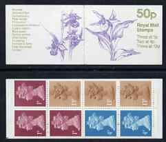 Booklet - Great Britain 1984-85 Orchids #2 (Cypripedium calceolus) 50p folded booklet complete, SG FB28