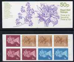 Booklet - Great Britain 1984-85 Orchids #3 (Bifrenaria) 50p folded booklet complete, SG FB29