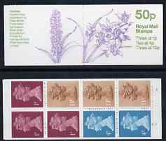 Booklet - Great Britain 1984-85 Orchids #4 (Cymbidium) 50p folded booklet complete, SG FB30