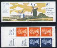 Booklet - Great Britain 1989-91 Mills series #3 (Jack & Jill Mills) \A31 folded booklet complete, SG FH21