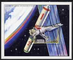 Sierra Leone 1990 Exploration of Mars perf m/sheet (Space Station) unmounted mint SG MS1416b