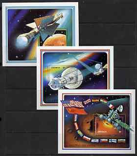 Grenada 1990 Exploration of Mars perf set of 3 m/sheets unmounted mint, SG MS 2298
