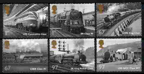 Great Britain 2010 Great British Railways perf set of 6 unmounted mint