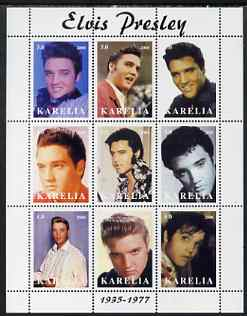 Karelia Republic 2000 Elvis Presley perf sheetlet containing 9 values unmounted mint