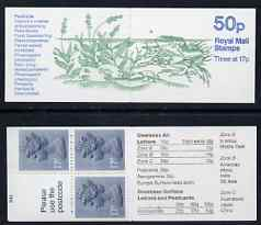 Booklet - Great Britain 1986-87 Pond Life #2 (Common Frog) 50p booklet complete, SG FB33 with cyl number B43