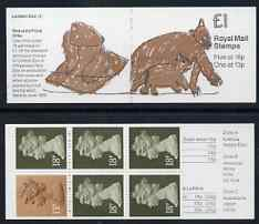 Booklet - Great Britain 1988 London Zoo #3 (Child's Drawing of Bears) \A31 booklet complete, SG FH12