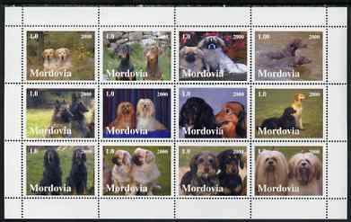Mordovia Republic 2000 Dogs perf sheetlet containing set of 12 values unmounted mint