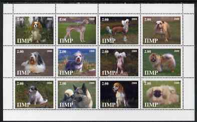Dnister Moldavian Republic (NMP) 2000 Dogs perf sheetlet containing set of 12 values unmounted mint