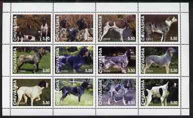 Chuvashia Republic 2000 Dogs perf sheetlet containing set of 12 values unmounted mint