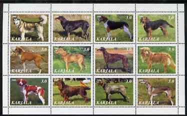 Karjala Republic 2000 Dogs perf sheetlet containing set of 12 values unmounted mint