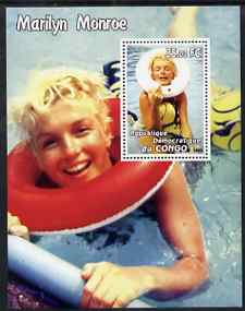 Congo 2002 Marilyn Monroe #01 perf m/sheet unmounted mint