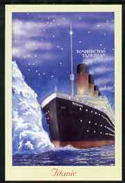 Tadjikistan 1999 The Titanic #1 rouletted m/sheet unmounted mint