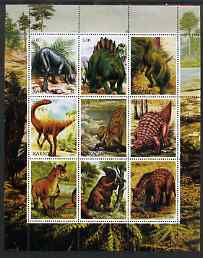 Chakasia 2000 Dinosaurs perf sheetlet containing set of 9 values unmounted mint