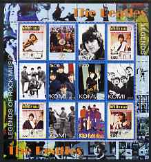 Komi Republic 2004 The Beatles perf sheetlet containing set of 12 values unmounted mint