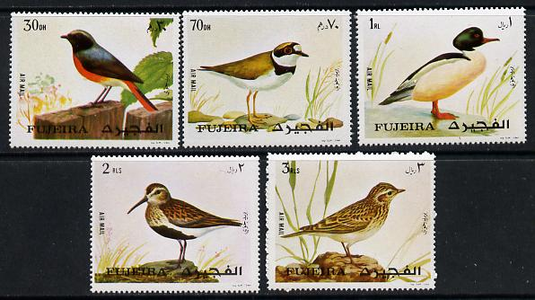 Fujeira 1972 European Birds set of 5 unmounted mint (Mi 1356-60)