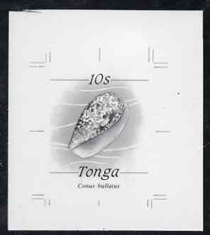 Tonga 1984-85 Bubble Cone Shell 10s (from self adhesive Marine Life def set) B&W photographic proof, scarce thus, as SG 871