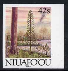 Tonga - Niuafo'ou 1989-93 Early Plant Life 42s (from Evolution of the Earth set) imperf marginal plate proof, scarce thus unmounted mint, as SG 124