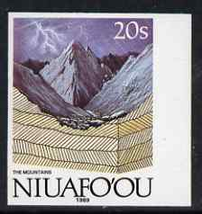 Tonga - Niuafo'ou 1989-93 Mountains 20s (from Evolution of the Earth set) imperf marginal plate proof, scarce thus, unmounted mint as SG 122