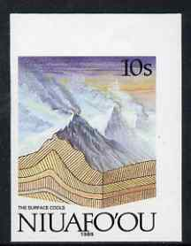 Tonga - Niuafo'ou 1989-93 The Surface Cools 10s (from Evolution of the Earth set) imperf marginal plate proof unmounted mint, scarce thus, as SG 120