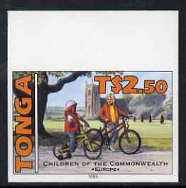 Tonga 1994 English Children with Bicycle 2p50 (from 25th Anniversary set) imperf proof unmounted mint, as SG 1295