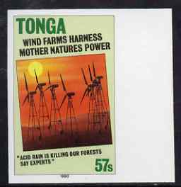 Tonga 1995 Wind Farm 57s (from Alternative Sources of Electricity set) imperf marginal plate proof unmounted mint as SG 1070