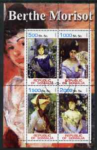 Somalia 2002 Berthe Morisot Paintings perf sheetlet containing 4 values, fine cto used