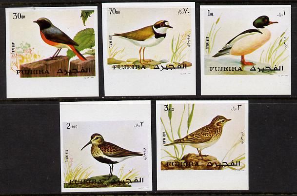 Fujeira 1972 European Birds imperf set of 5 unmounted mint (Mi 1356-60B)