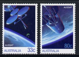Australia 1986 AUSSAT National Communications Satellite system set of 2 unmounted mint, SG 998-99