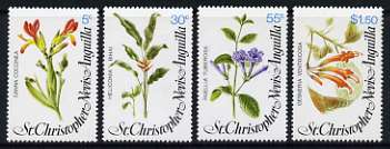 St Kitts-Nevis 1979 Flowers (1st Series) set of 4 unmounted mint, SG 417-20