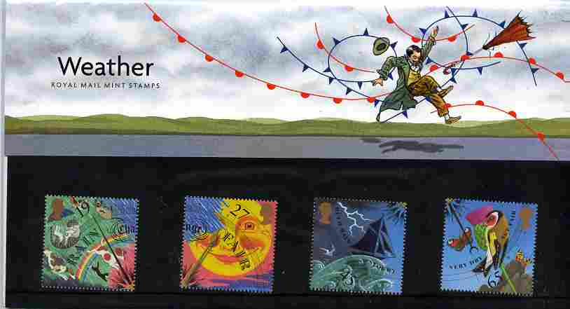 Great Britain 2001 Weather set of 4 in official presentation pack, SG 2197-2200
