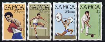 Samoa 1982 Commonwealth Games set of 4 unmounted mint, SG 625-28