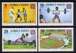 Samoa 1974 Commonwealth Games set of 4 unmounted mint, SG 422-25
