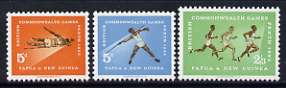 Papua New Guinea 1962 7th British Empire & Commonwealth Games set of 3 unmounted mint, SG 39-41