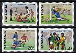 Tanzania 1986 World Cup Football Championships set of 4 unmounted mint, SG 494-97