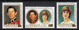 Cook Islands - Aitutaki 1981 Royal Wedding set of 3 unmounted mint, SG 391-93