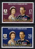 Bermuda 1975 Royal Visit set of 2 unmounted mint, SG 328-29