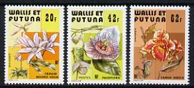 Wallis & Futuna 1979  Flowers (1st series) set of 3 unmounted mint, SG 328-30