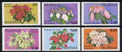 Philippines 1979 Cultivated Mussaendas set of 6 unmounted mint, SG 1523-28