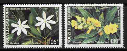 New Caledonia 1990 Flowers set of 2 unmounted mint, SG 903-04
